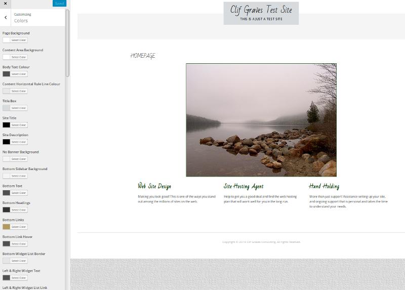 Wordpress Custom Colors